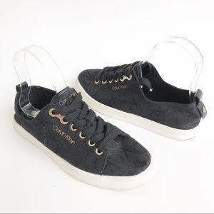 Calvin Klein Michaela Black Jacquard Sneakers